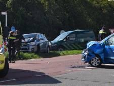 Drie gewonden bij frontale botsing bij Serooskerke op Schouwen-Duiveland