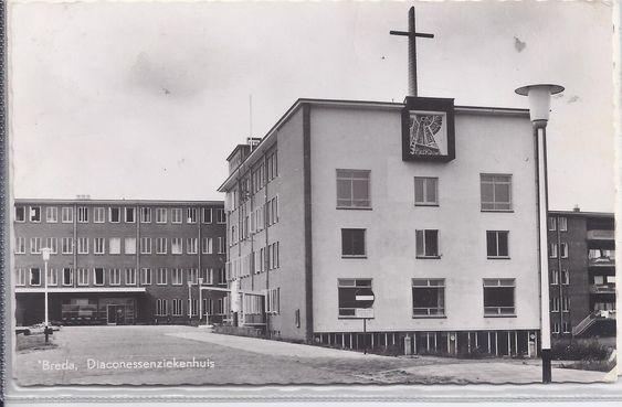 Diaconessengebouw medio jaren zestig van de vorige eeuw