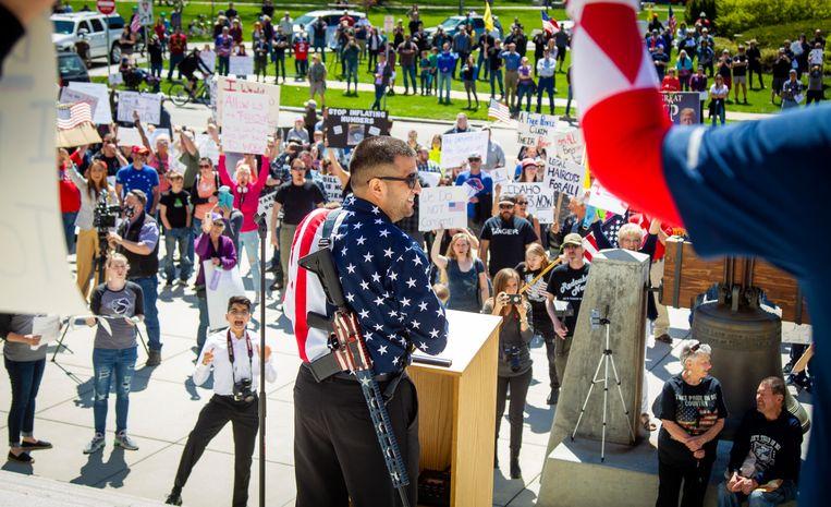Een demonstratie in Boise, Idaho.  Beeld AP