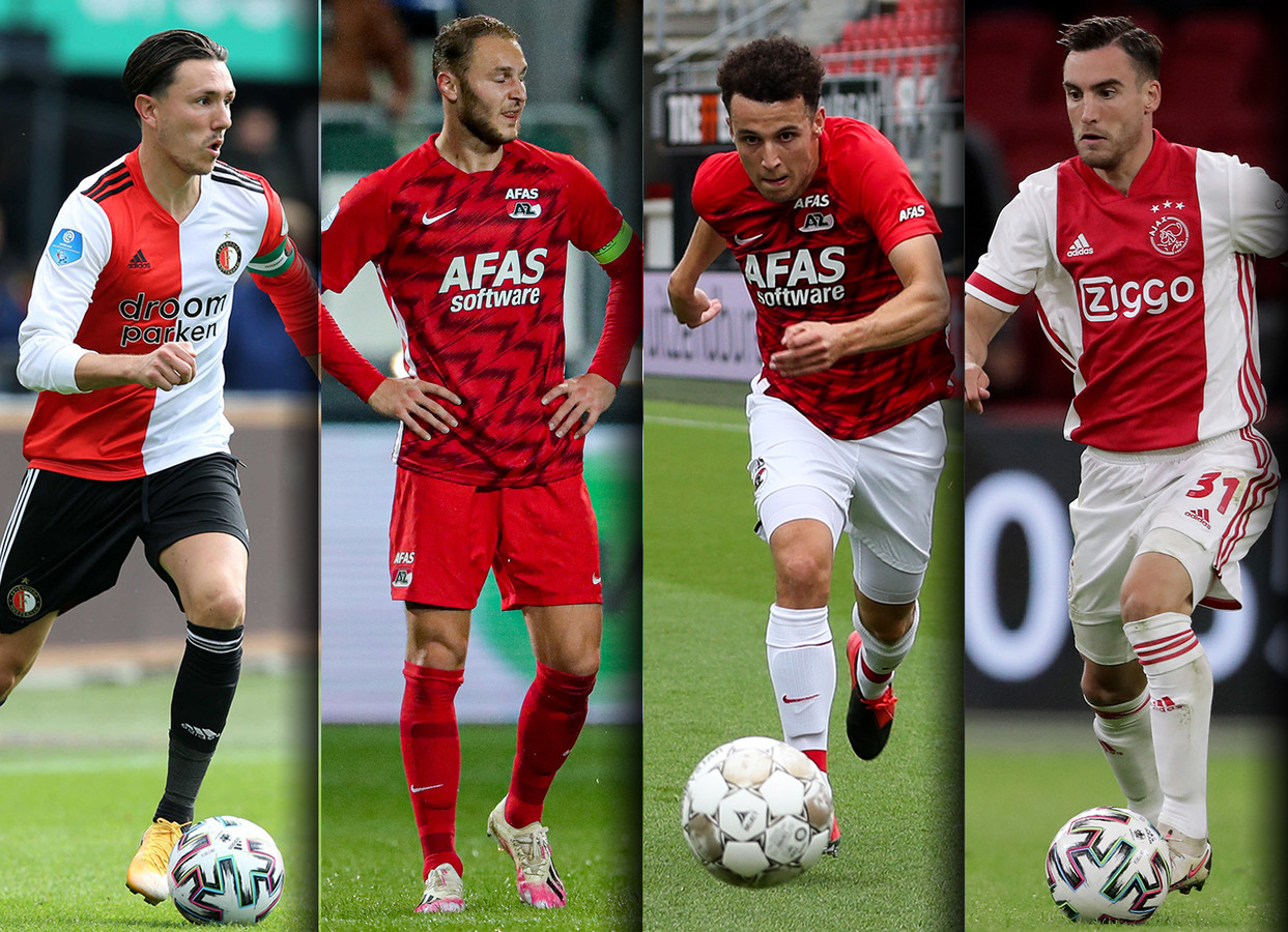 Steven Berghuis, Teun Koopmeiners, Oussama Idrissi en Nicolas Tagliafico.