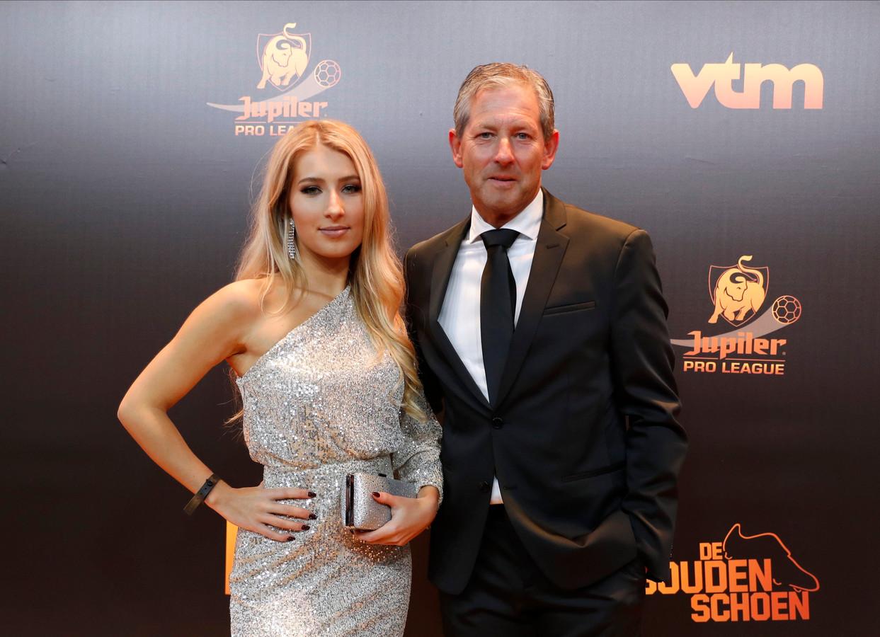 Frank Debleeckere met dochter Camille.