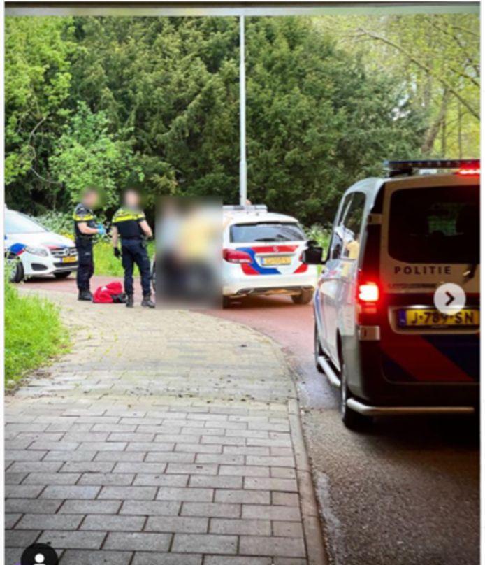 De politie in IJsselstein rukte dinsdagavond uit na een melding van een inbraak. Foto: Instagram.com/politiedennis.