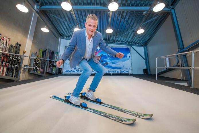 Marco Leeneman, eigenaar van de nieuwe indoor skibaan in Apeldoorn.