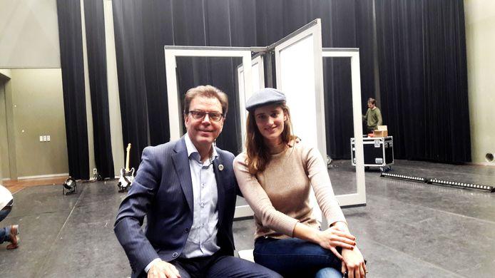 Walther Tibosch van Novadic Kentron en regisseur Eefje Suijkerbuijk van Hunker.