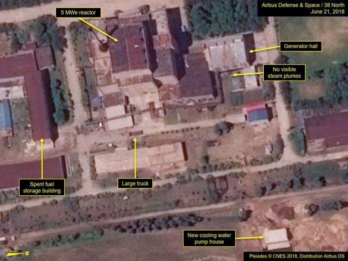 Op het hele terrein van het Yongbyon-atoomcentrum zijn veranderingen doorgevoerd.