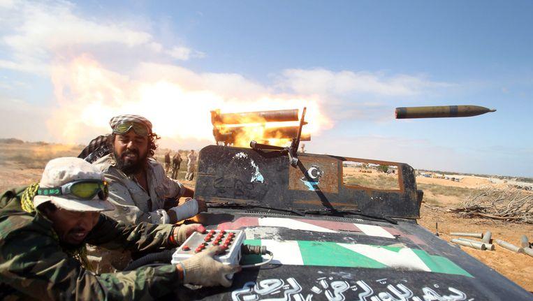 Rebellen in Libië in 2011. Beeld EPA