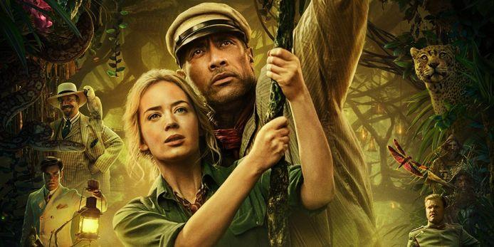 Emily Blunt en Dwayne 'The Rock' Johnson in Jungle Cruise.