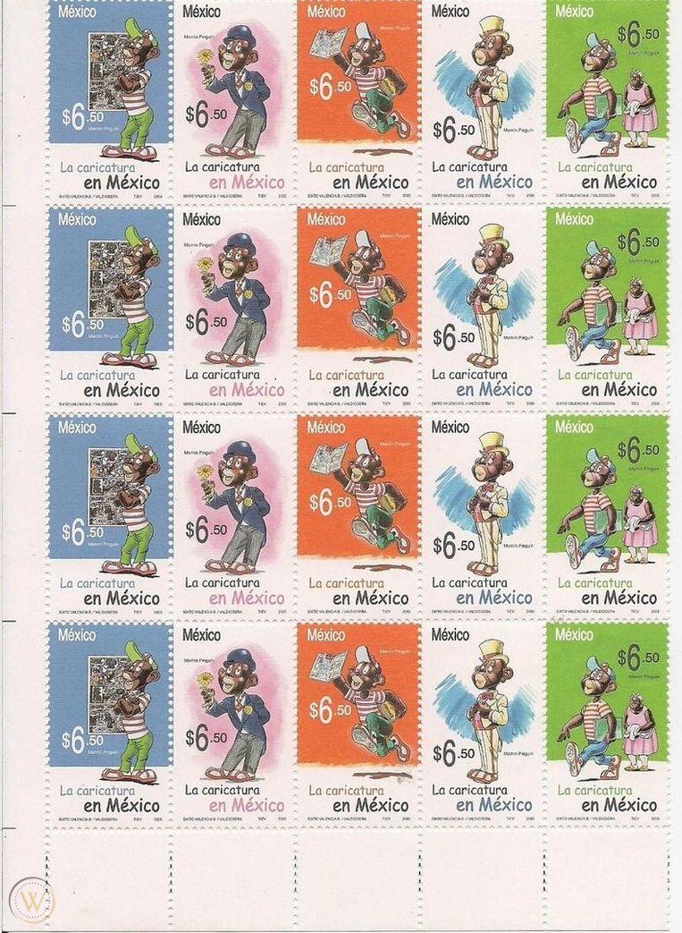 De Mexicaanse Memín Pinguín-postzegels. Beeld