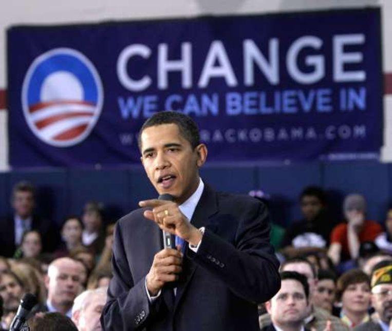 Barack Obama staat nog steeds aan de leiding Beeld UNKNOWN
