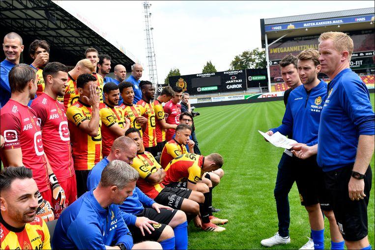 KV Mechelen maakt zich op voor 1A. In de beker en de Europa League zullen ze niet te zien zijn. Beeld BELGA