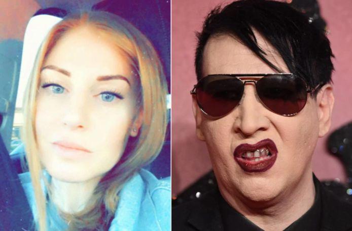 Ashley Morgan Smithline (links) en Marilyn Manson.