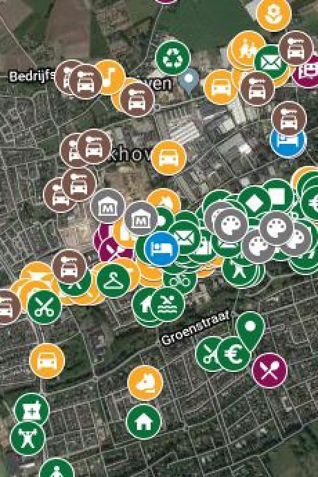 Shoppen in Oisterwijk, Moergestel en Heukelom: klik op de BD-kaart