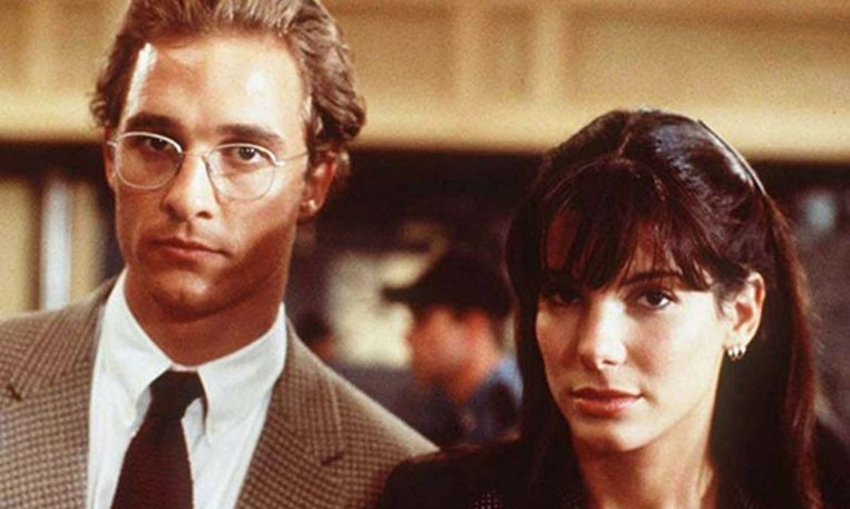 Matthew McConaughey en Sandra Bullock in A Time to Kill. Beeld