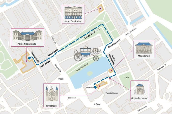 Route Glazen Koets door Den Haag op 18 september 2018.