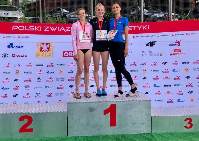 Sophia Mulder, meerkamp kampioene U20 van Polen.
