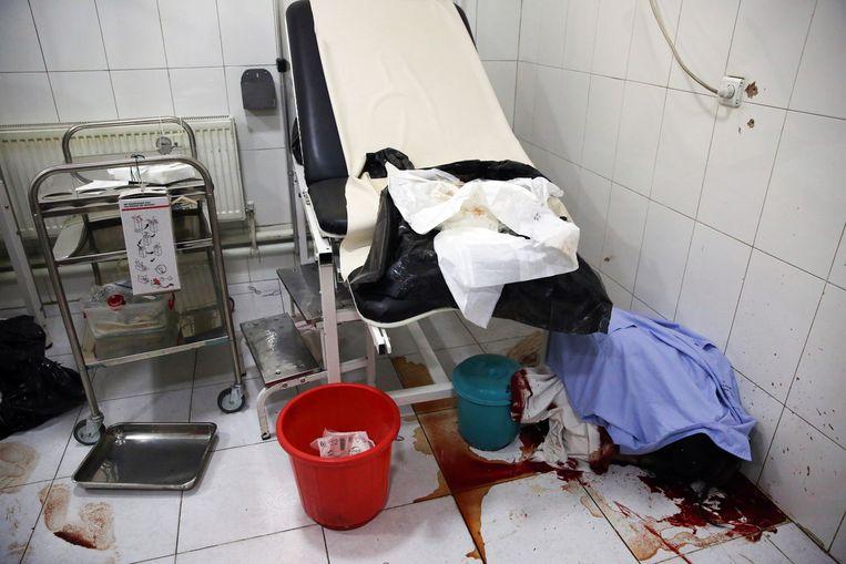 Ook in het bevallingskwartier sloegen de schutters toe. Beeld AP