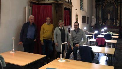 Nieuwe studeerruimte in de fietskerk van Onkerzele