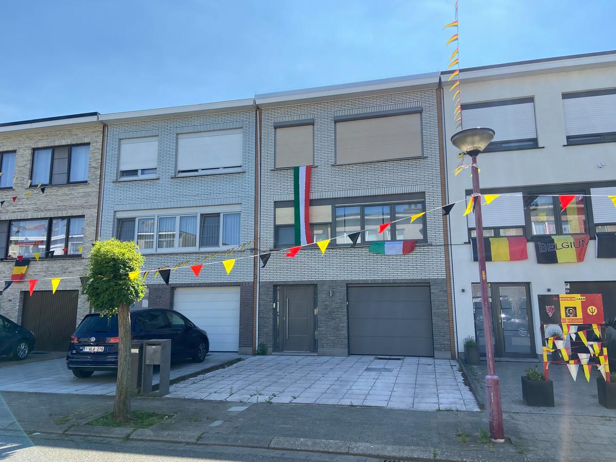 Toch ook een aantal Italiaanse vlaggen in de Populierenlaan