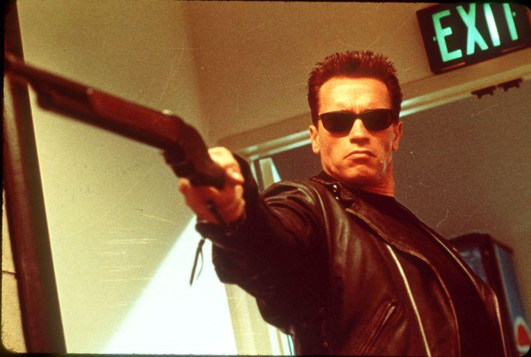 Arnold Schwarzenegger in Terminator 2: Judgement Day van James Cameron. Beeld
