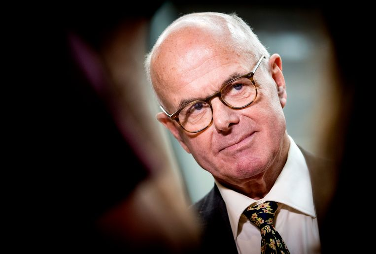 DEN HAAG - Hans Borstlap tijdens de presentatie van de commissie Borstlap.   Beeld Koen van Weel / ANP