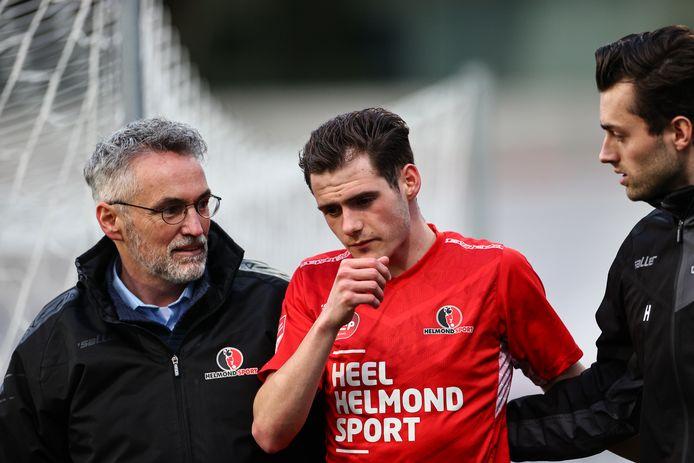 Sander Vereijken viel dinsdag tegen Almere City FC nog uit met een hoofdblessure, maar hij is weer hersteld.