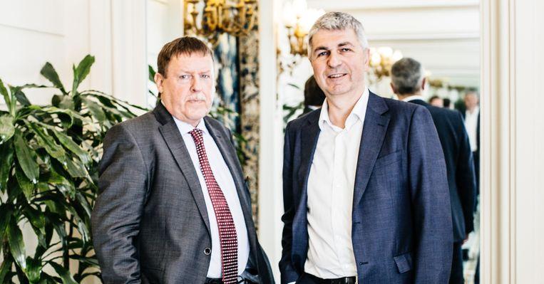 Siegfried Bracke (links) en Ivo Belet. Beeld Wouter Van Vooren