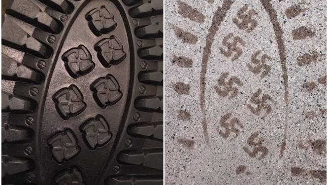 Foutje: schoenzolen met hakenkruisen uit winkels gehaald