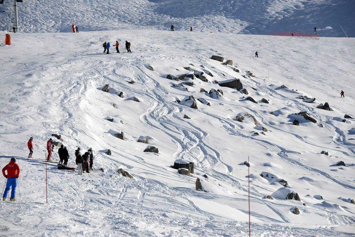 Méribel, France : la portion rocheuse, hors des pistes damées, où Michael Schumacher a tragiquement chuté