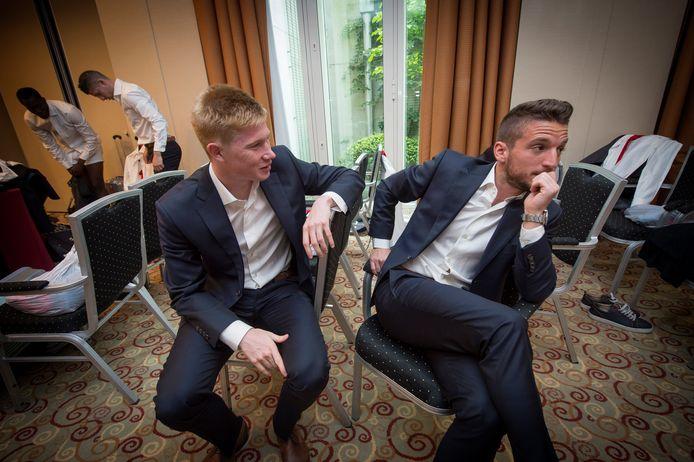 Kevin De Bruyne et Dries Mertens étaient habillés par Carlo et Fils lors de la Coupe du Monde 2014