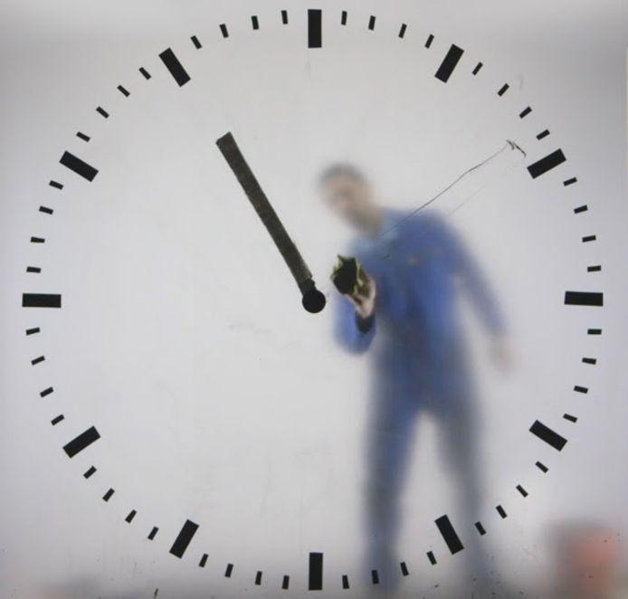 De schipholklok 'Real Time' van Maarten Baas