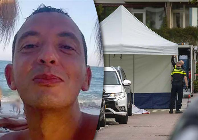 De politie aan het werk in Amsterdam, na de moord op advocaat Derk Wiersum. Die zou besteld zijn door Ridouan Taghi (links) als vergelding omdat hij kroongetuige Nabil B. verdedigde.