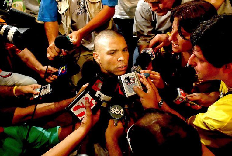 De Braziliaanse spits Ronaldo. Beeld EPA