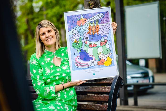 De poster van Niet Nu Laura tegen voedselverspilling.