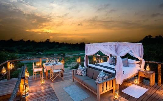 In de open lucht overnachten in Zuid-Afrika.