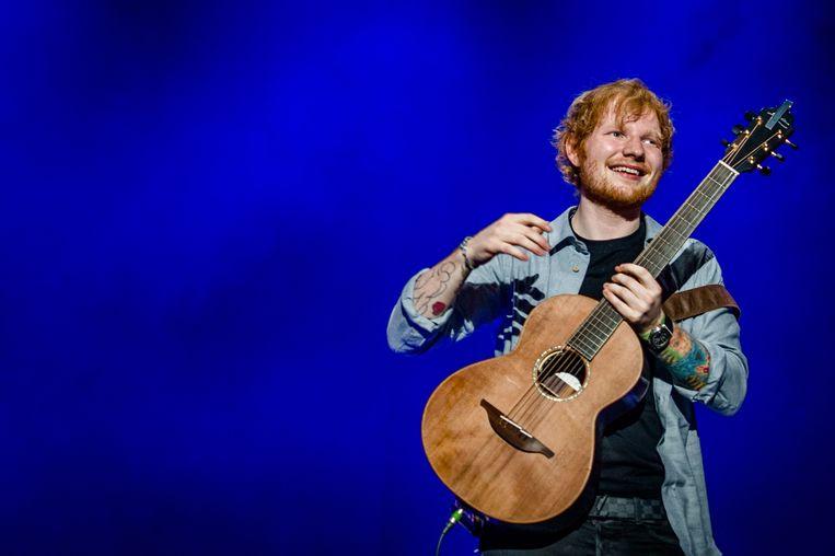 Ed Sheeran tijdens een concert in Amsterdam. Beeld ANP Kippa