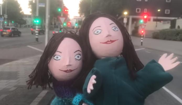 Beeld uit de nieuwe clip die in Nijmegen is opgenomen.