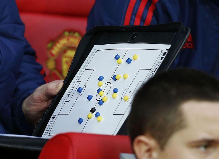 Van Gaals speelplan tegen Norwich City. Beeld photo_news