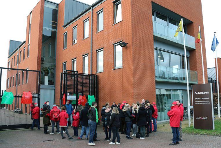 De staking in jeugdinstelling De Kempen in Mol werd massaal opgevolgd. Beeld Vanderveken