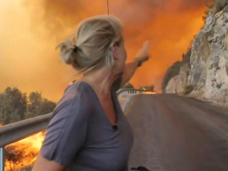 Live beelden tonen hoe snel bosbranden zich verspreiden in Turkije