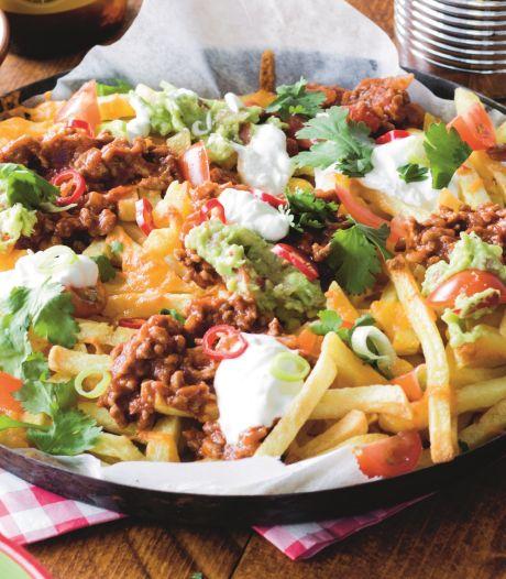 Wat Eten We Vandaag: Frachos (nacho-frietjes) met guacamole
