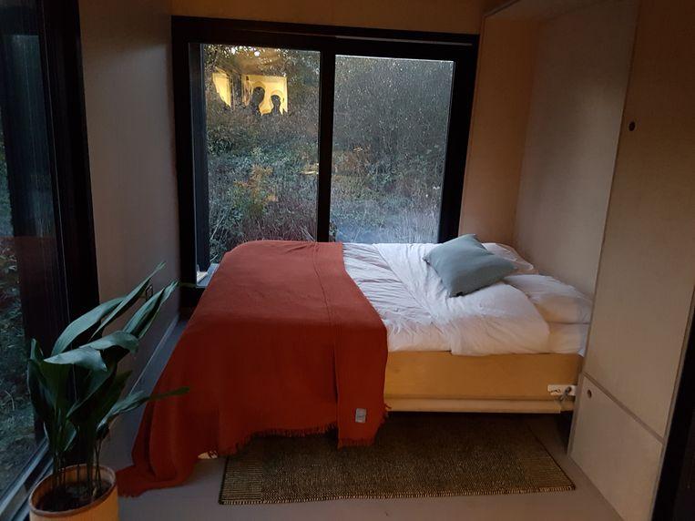 De Slow Cabin nabij bosreservaat Helschot moet verhuizen.