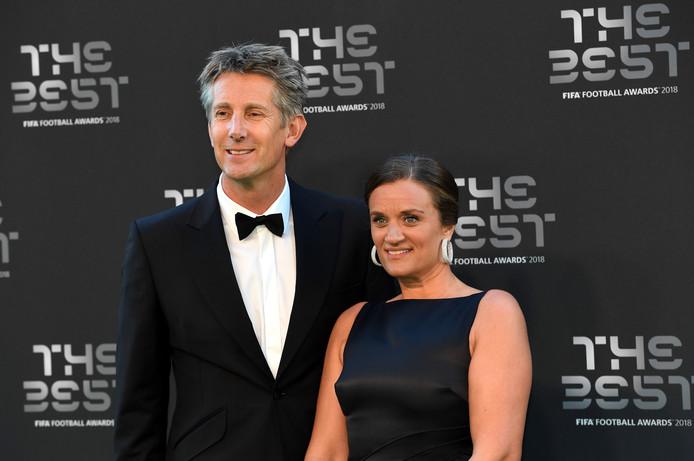 Edwin van der Sar en zijn vrouw Annemarie.