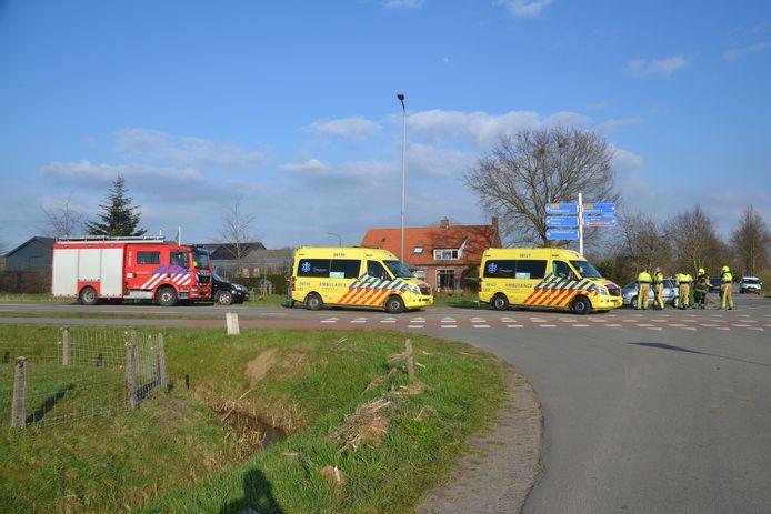 Hulpdiensten rukten massaal uit naar Horssen.