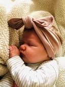 Janne (6 weken) is het dochtertje van Goedele Cappoen.