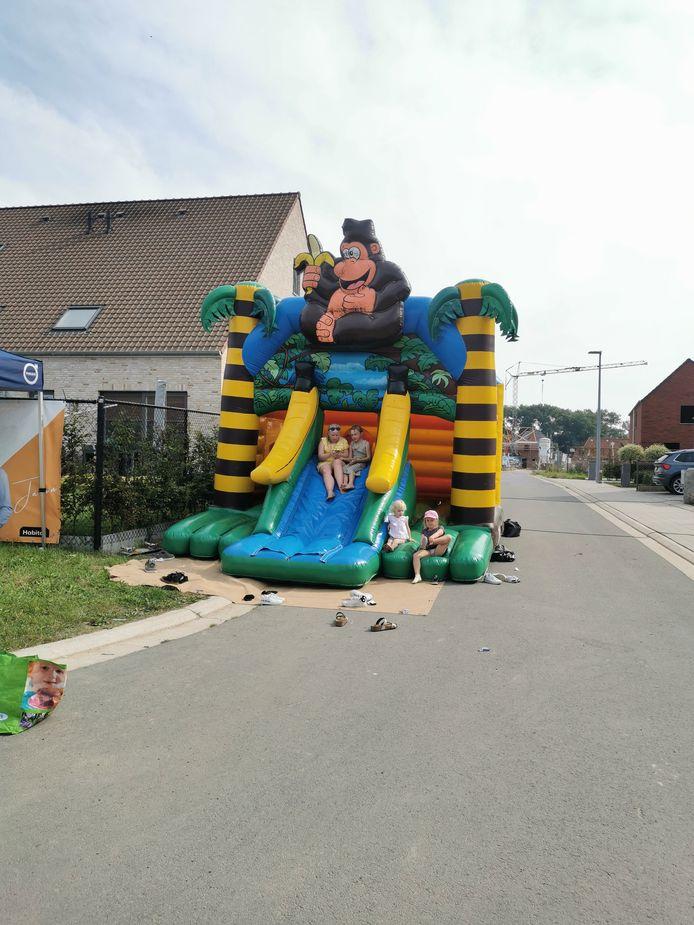 Er waren ook springkastelen voorzien bij de feestelijke opening.