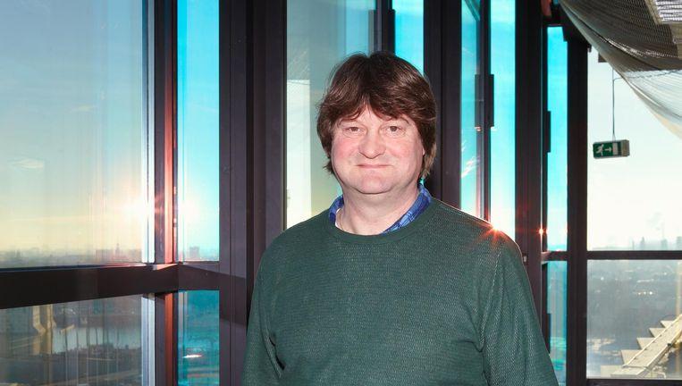 Eric Vaarzon Morel op de negende etage van het Conservatorium van Amsterdam aan het IJ Beeld Daniel Cohen
