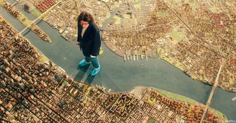 Lebowitz loopt over het Panorama of the City of New York. Beeld Netflix