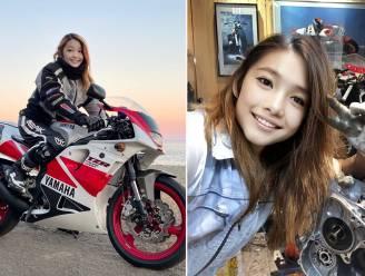 Knappe, jonge Japanse motorrijdster blijkt vent van 50, met een geweldig talent voor fotoshoppen