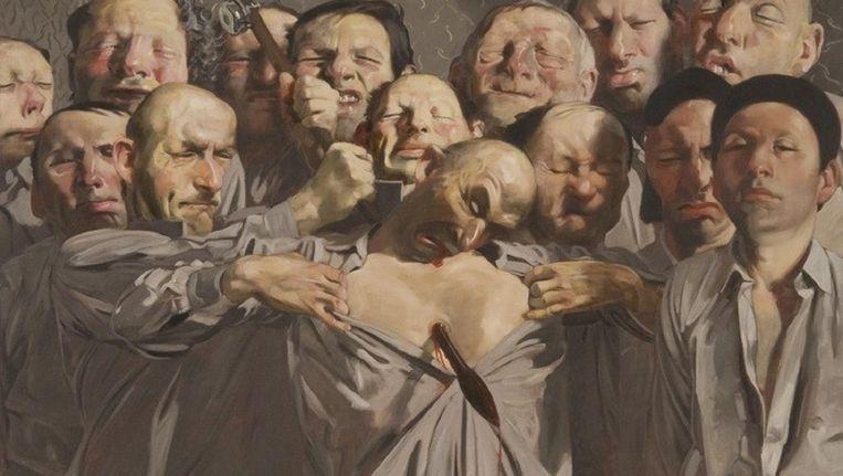 Werk van de Duitse kunstenaar Johannes Grützke. Beeld Museum MORE