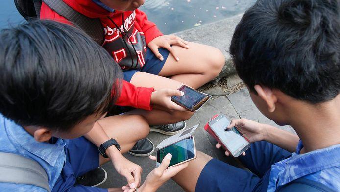 Pokémon Go-spelers in Indonesië, een ander islamitisch land.